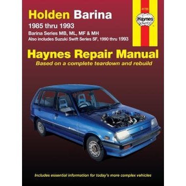Haynes Repair Manual - Holden Barina, Suzuki Swift 1985-1993-41725-Haynes-A1 Autoparts Niddrie