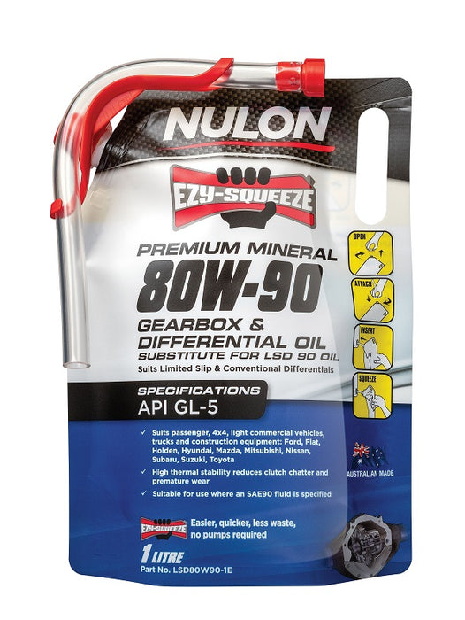 Nulon Premium Mineral 80W-90 Gearbox & Differential Oil - 1 Litre