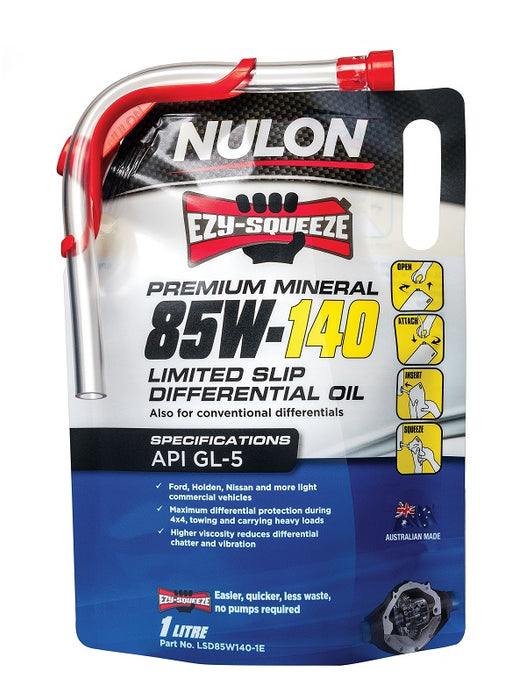 Nulon Premium Mineral 85W-140 Gearbox & Differential Oil - 1 Litre