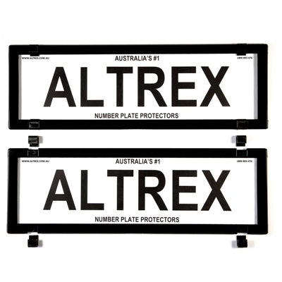 Ultimate 5 Figure Dual Slimline Black Number Plate Covers Without Lines - Push Clip - 5VSNL-5VSNL-Altrex-A1 Autoparts Niddrie