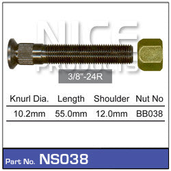 Nice Products Wheel Stud & Nut - NS038 - A1 Autoparts Niddrie  - 1