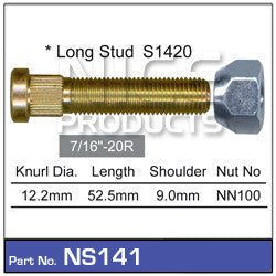 Nice Products Wheel Stud & Nut - NS141 - A1 Autoparts Niddrie  - 1