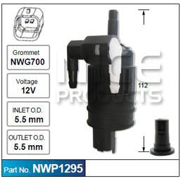 Nice Products Windscreen Washer Pump - NWP1295 - A1 Autoparts Niddrie  - 1