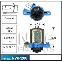Nice Products Windscreen Washer Pump - NWP200 - A1 Autoparts Niddrie  - 1