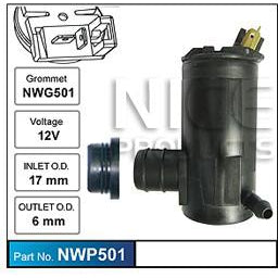 Nice Products Windscreen Washer Pump - NWP501 - A1 Autoparts Niddrie  - 1