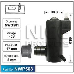 Nice Products Windscreen Washer Pump - NWP508 - A1 Autoparts Niddrie  - 1