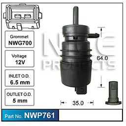 Nice Products Windscreen Washer Pump - NWP761-NWP761-Nice-A1 Autoparts Niddrie