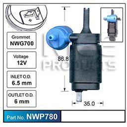 Nice Products Windscreen Washer Pump - NWP780-NWP780-Nice-A1 Autoparts Niddrie