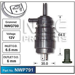 Nice Products Windscreen Washer Pump - NWP791 - A1 Autoparts Niddrie  - 1