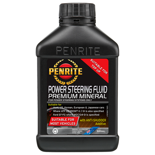 Penrite Power Steering Fluid - 500ml - A1 Autoparts Niddrie