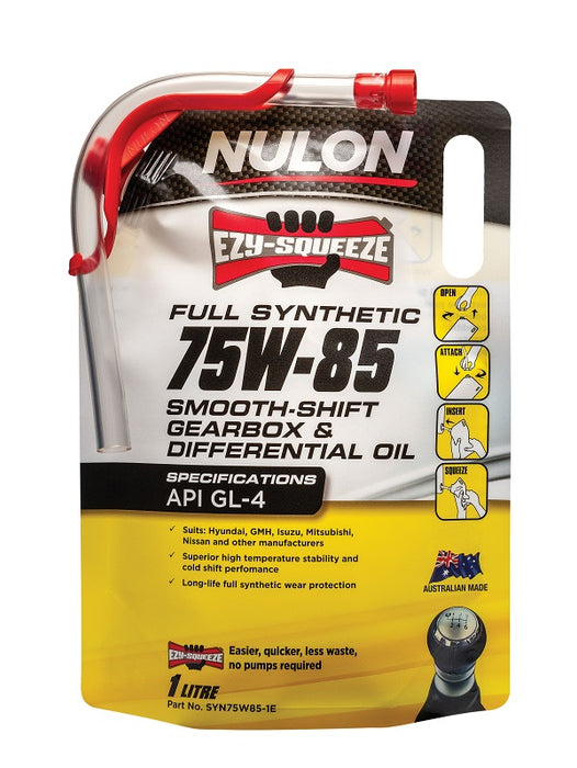 Nulon Full Synthetic 75W-85 Smooth Shift Manual Gearbox and Transaxle Oil - 1 Litre