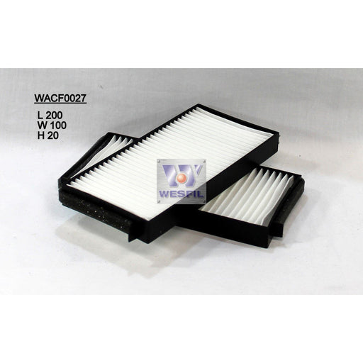 Wesfil Cabin/Pollen Air Filter - WACF0027 - A1 Autoparts Niddrie  - 1