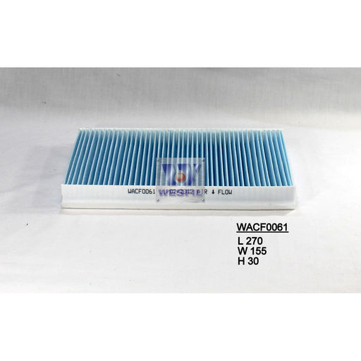 Wesfil Cabin/Pollen Air Filter - WACF0061 - RCA289C - A1 Autoparts Niddrie  - 1