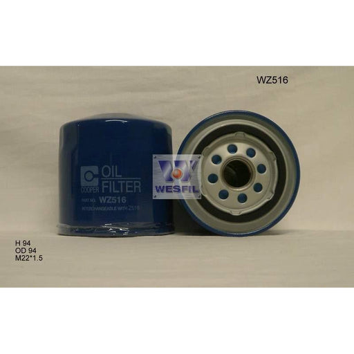 Wesfil Oil Filter - WZ516 (Z516) - Chrysler, Dodge, Ford, Mazda