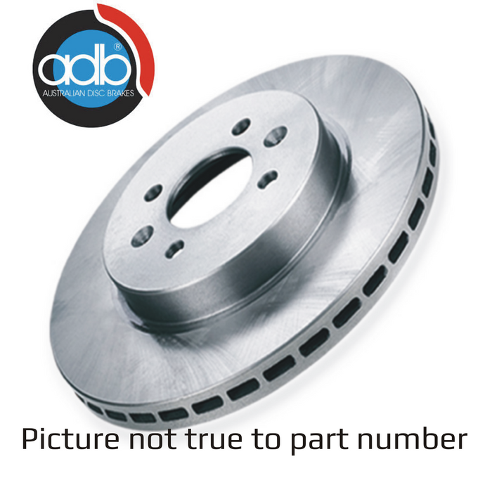 Disc Brake Rotor (Each) Ford Courier, Econovan, Mazda B & E Series - ADR631 - A1 Autoparts Niddrie