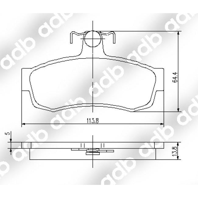 ADB Performance Brake Pad Set - ADB1095 - A1 Autoparts Niddrie  - 2
