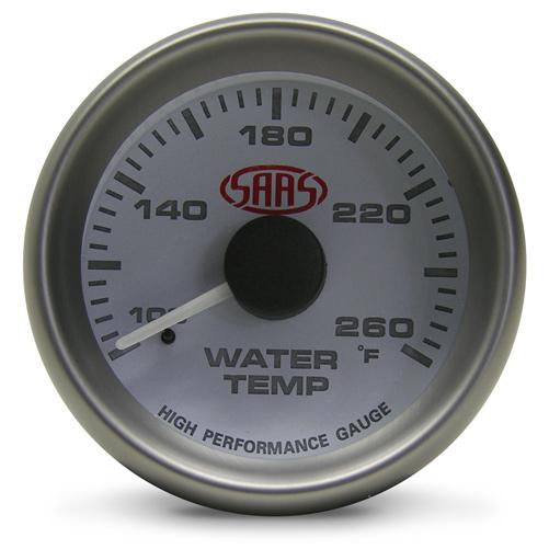 SAAS - 52mm Water Temp Gauge - White face SG-WT52W-SGWT52W-SAAS-A1 Autoparts Niddrie