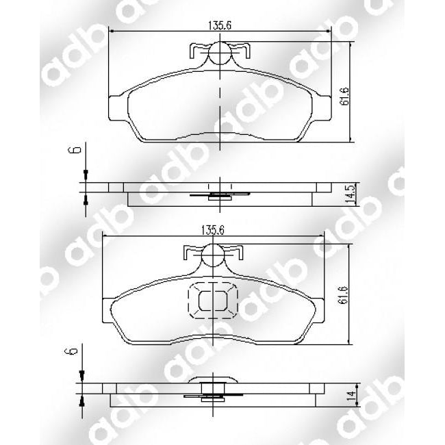 ADB Performance Brake Pad Set - ADB1105 - A1 Autoparts Niddrie  - 2