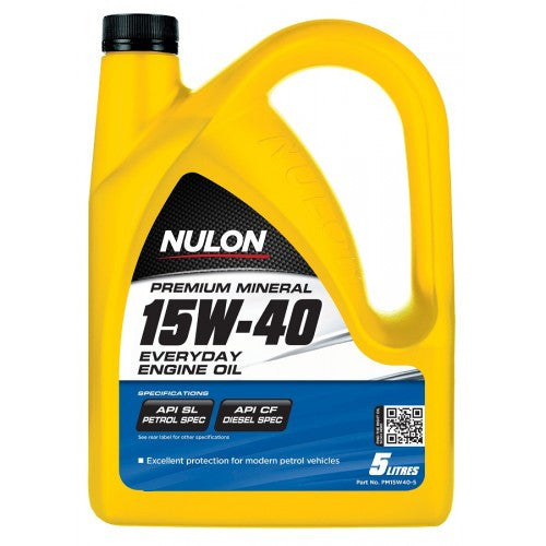 Nulon Premium Mineral 15W40 Everday Engine Oil - 5Ltr - A1 Autoparts Niddrie
