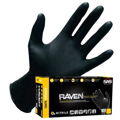 Raven Nitrile Disposable Gloves - Extra Large (Pack Of 100)
