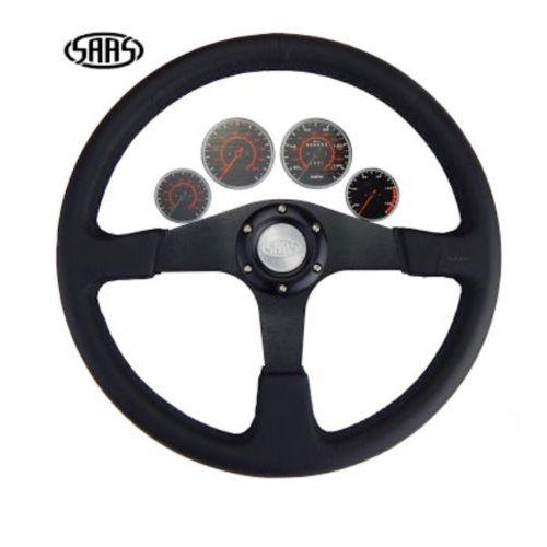 SAAS 4WD Leather Steering Wheel - SW515BL-R