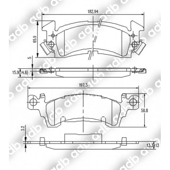 ADB Performance Brake Pad Set - S728A - A1 Autoparts Niddrie  - 2