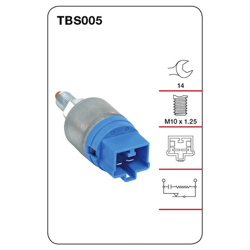 Tridon Brake / Stop Light Switch - TBS005 - A1 Autoparts Niddrie