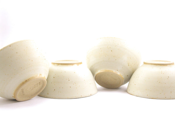 Four small bowls in matte glaze