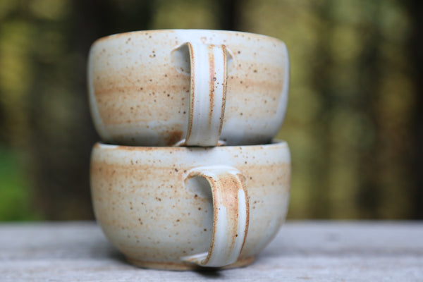 Pair of soup mugs in matte glaze