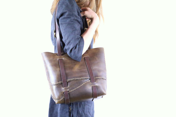 Olive Horween Tote
