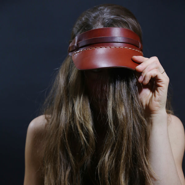 Leather Visor