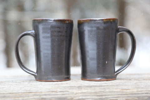 Pair of 13 oz. mugs in espresso