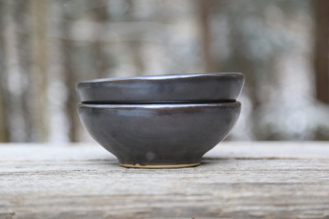 Pair of soup/cereal bowls in espresso glaze