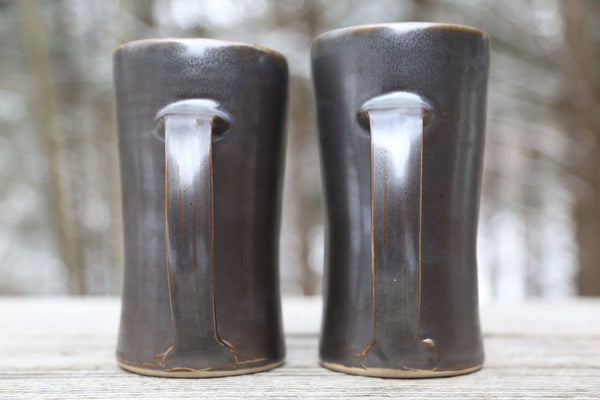 Pair of 24 oz. tankards in espresso