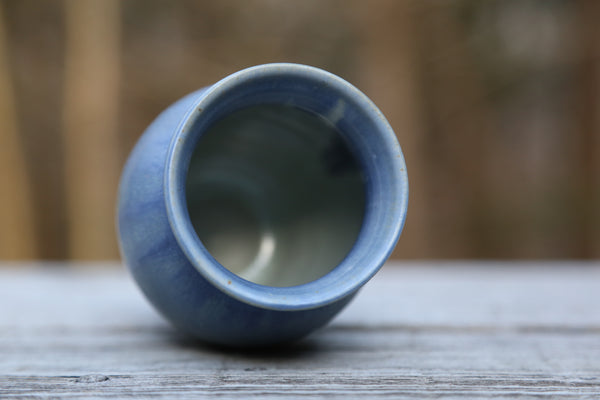 Small vase no. 1 in earthy blue glaze