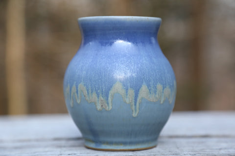Small vase no. 2 in earthy blue glaze