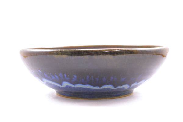 serving bowl in deep blue glaze