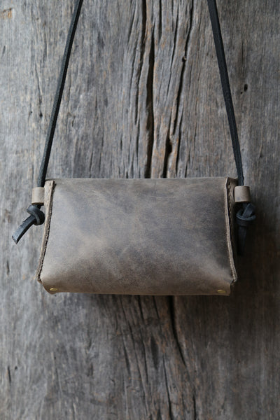 Soft grey crossbody clutch no. 1