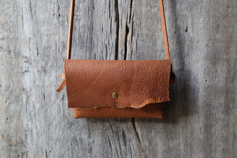 Soft honey brown crossbody clutch no.2