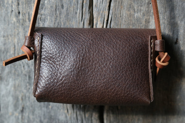 Soft brown crossbody clutch no. 1
