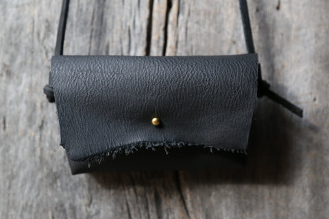 Soft black crossbody clutch no. 2
