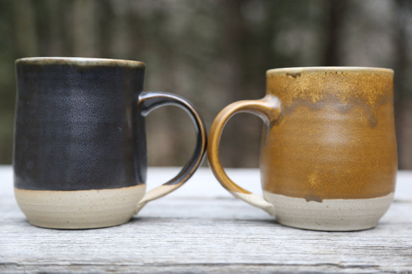Pair of earthy 18 oz. mugs