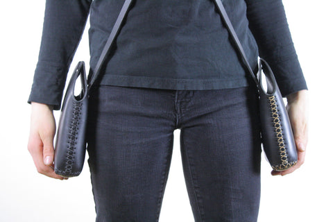Minimalist Crossbody Bag in Black