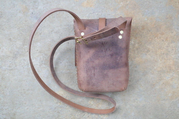 Grey Natural Edge Crossbody Bag