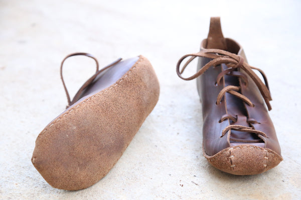 Hand stitched soft soled leather moccasins