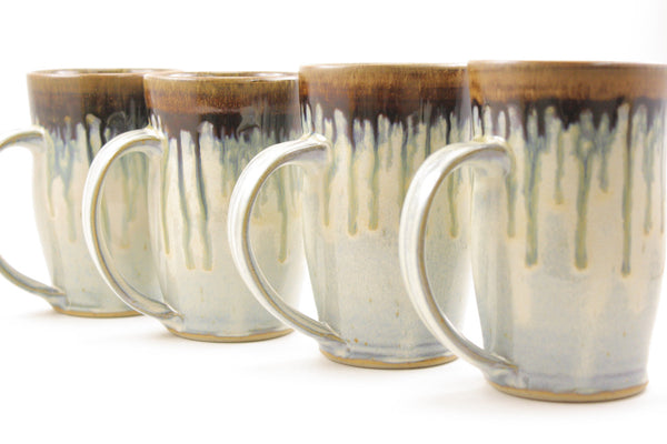 Pair of mugs in light blue glaze