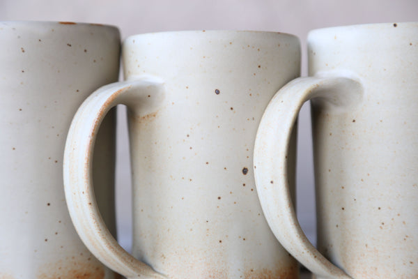 Pair of tankards in matte glaze