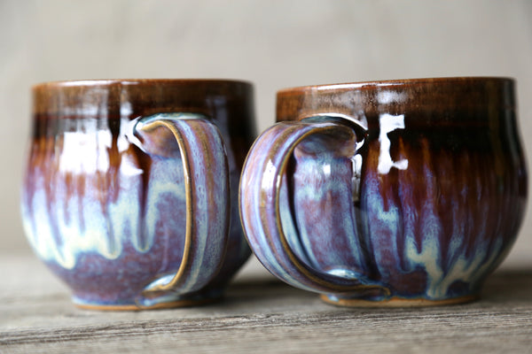 Pair of 16 oz. mugs in lavender glaze
