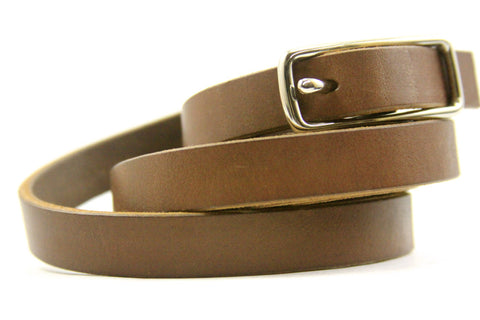 "5/8"" Leather Belt in Light Brown American Steer Hide"