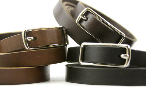 "5/8"" Leather Belt in Chocolate Brown American Steer Hide"